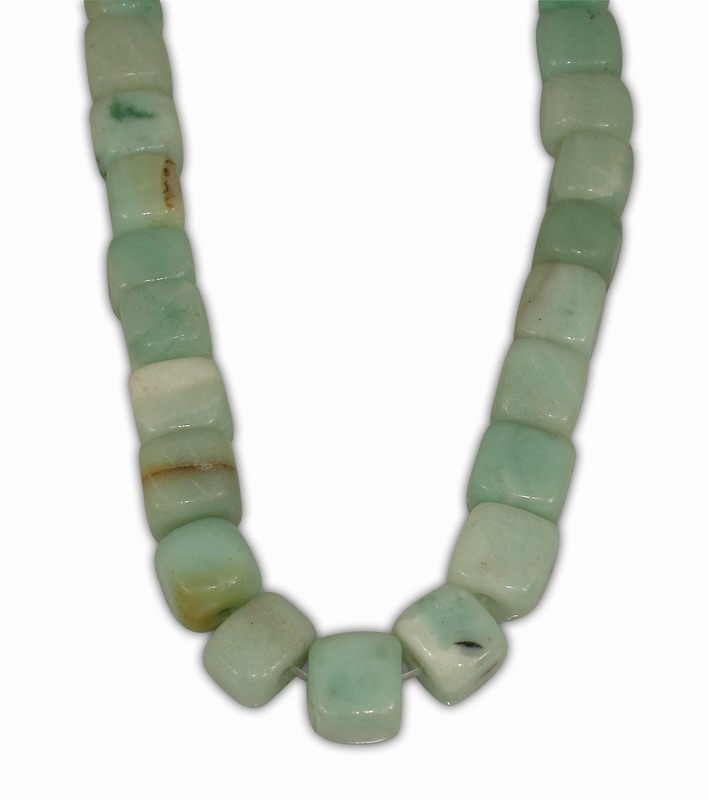AMAZONITE SQUARE 10mm WITH 2,5mm HOLE