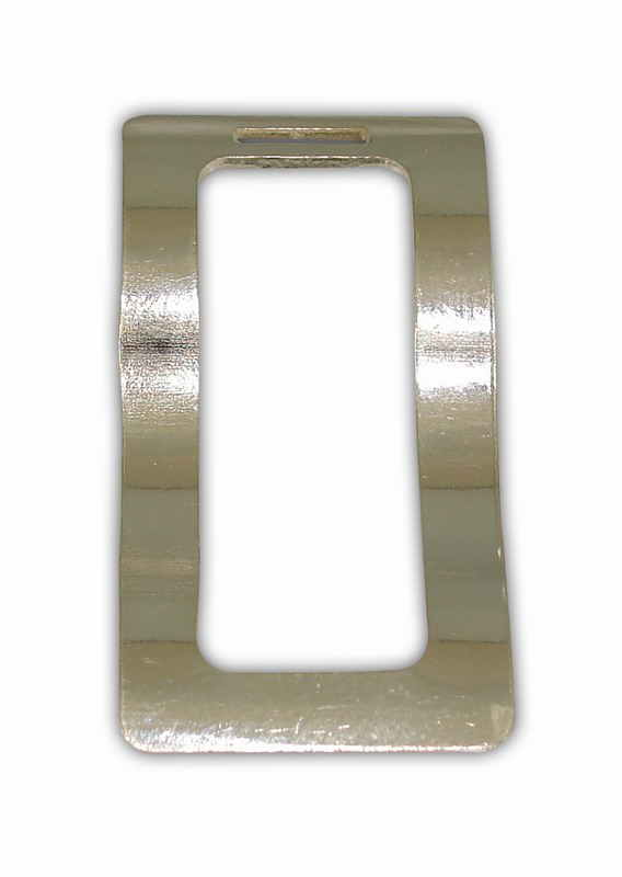 SILVER925o PART PARALLELOGRAM 19x37mm