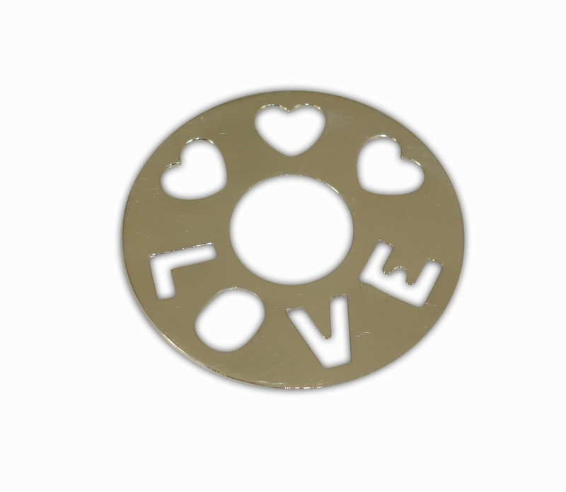 SILVER 925° MINTAGE ROUND WITH HEARTS AND LOGO ''LOVE'' 40mm