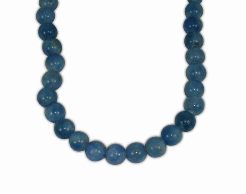 AGATE BLUE BALL 10mm WITH 2,5mm HOLE