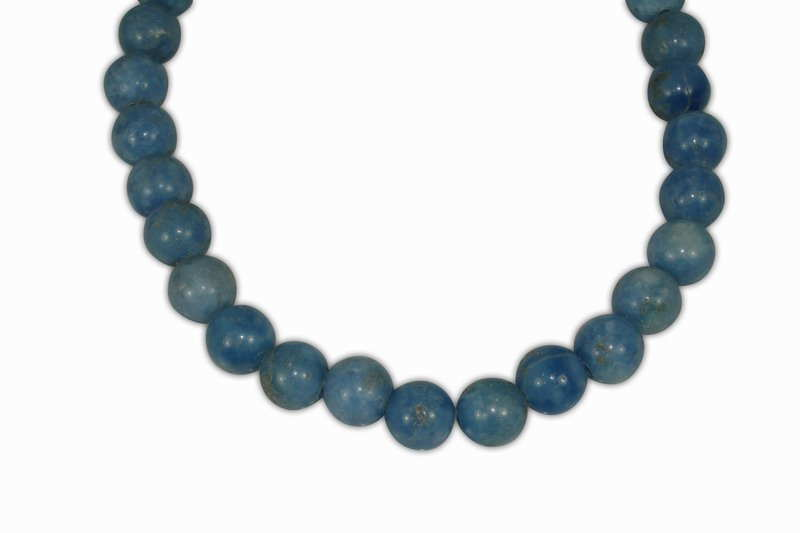 AGATE BLUE BALL 12mm WITH 2,5mm HOLE