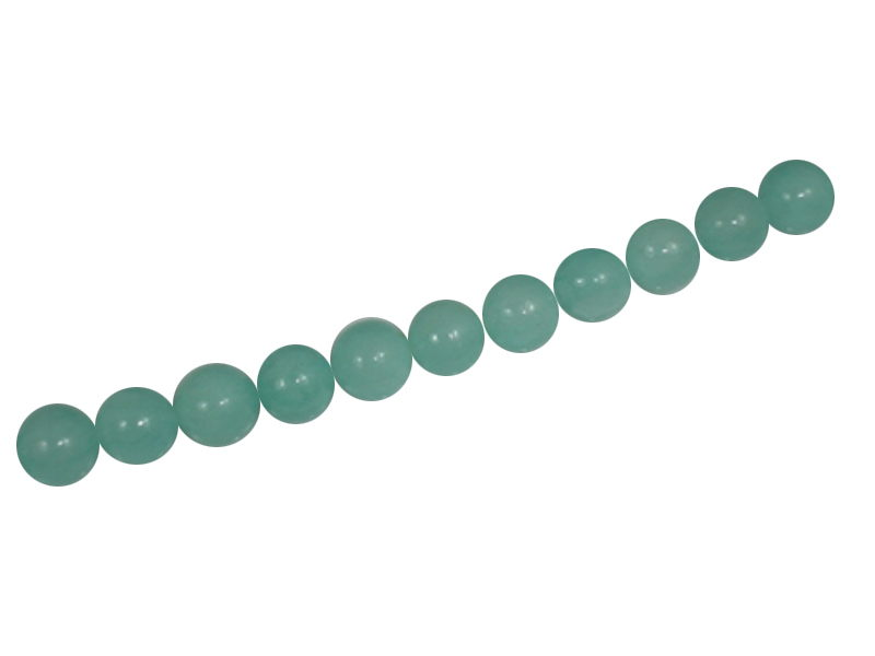 AMAZONITE BALL 10mm WITH 2,5mm HOLE
