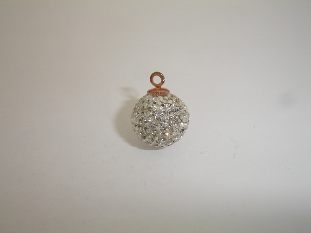 925° SILVER PINK GOLD PLATED SWAROVSKI STRASS BALL 13mm