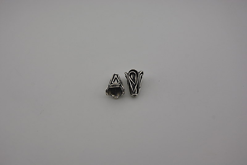 925° SILVER OXIDIZED CONE 16x12,6mm 3,2g/PIECE (1PIECES PER PACK)