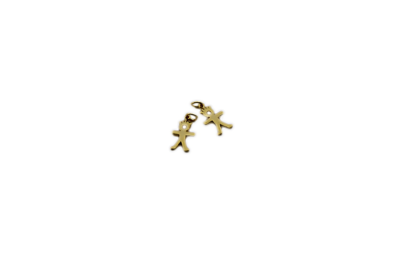 925° SILVER BOY GOLD PLATED 15x8mm