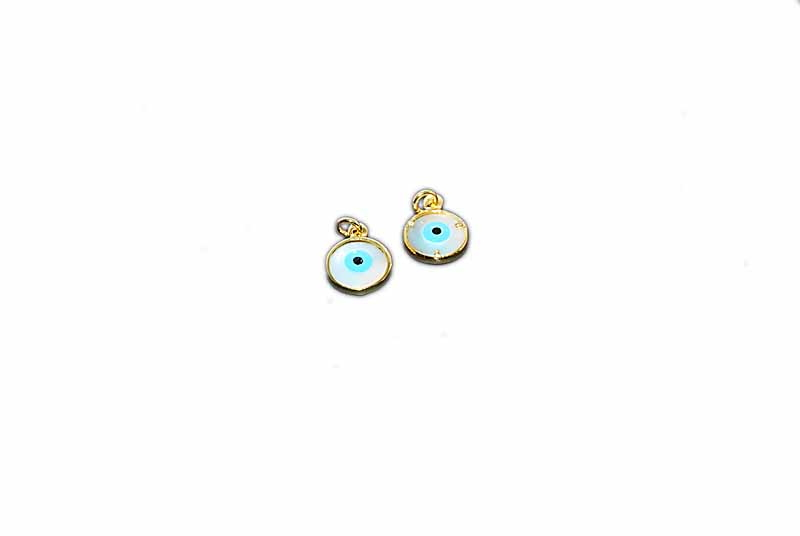 925° SILVER SHELL EYE GOLD PLATED 12mm