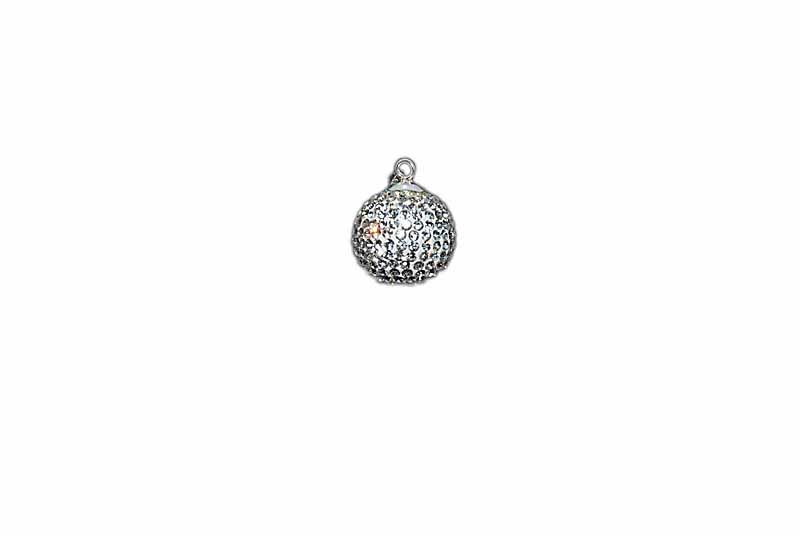 925° SILVER BALL WITH STRASS 20mm