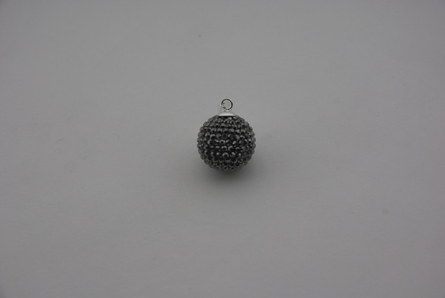 925° SILVER BALL WITH STRASS 18mm