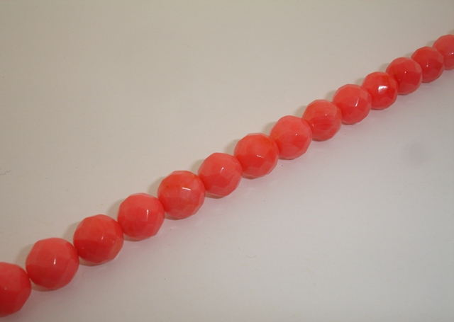 CORAL BALL FACETED 10mm