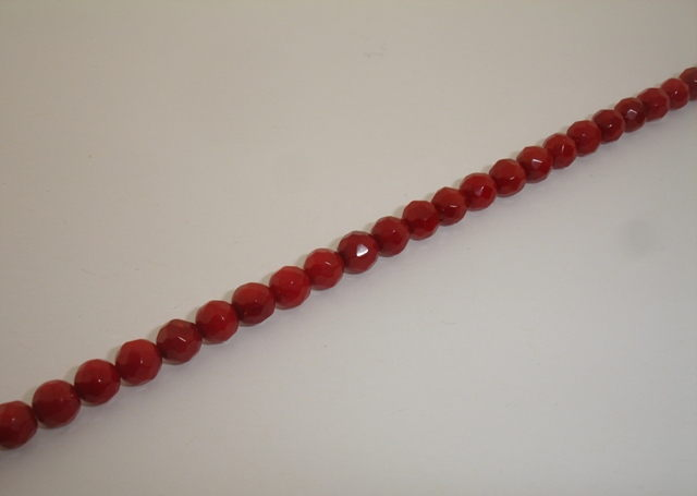 CORAL BALL FACETED 5mm