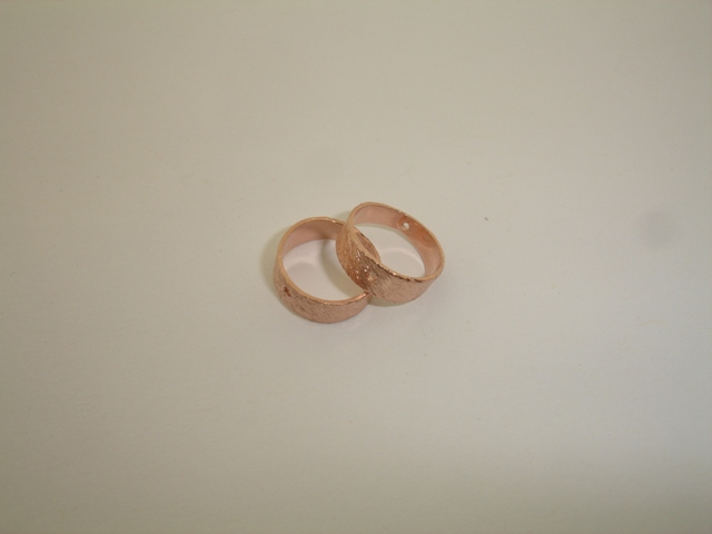 925° SILVER PINK GOLD PLATED MATTE HOOP 12mm 0,75g/PIECE (5 PIECES PER PACK)