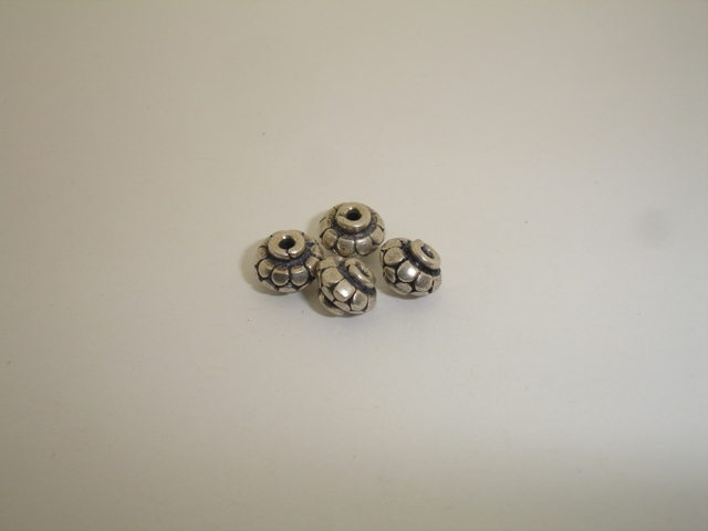 925° SILVER OXIDIZED RONDELLE 8x6mm 1,15g/PIECE (3PIECES PER PACK)
