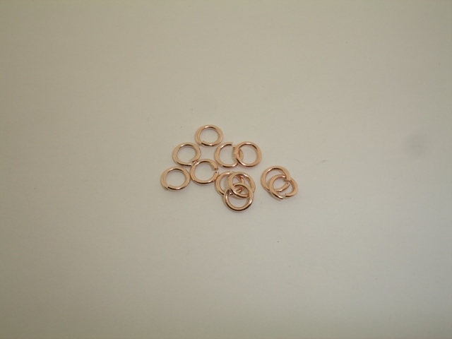 PINK GOLD PLATED RING 7mm ( 1,2mm THICKNESS IF WIRE )