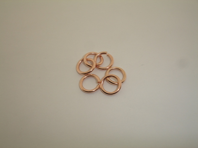PINK GOLD PLATED RING 12mm ( 1,8mm THICKNESS OF WIRE )