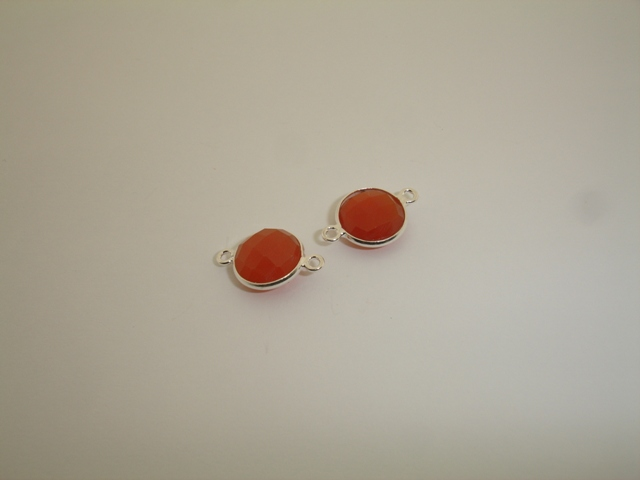 925° SILVER CARNELIAN 11mm (2PIECES PER PACK)