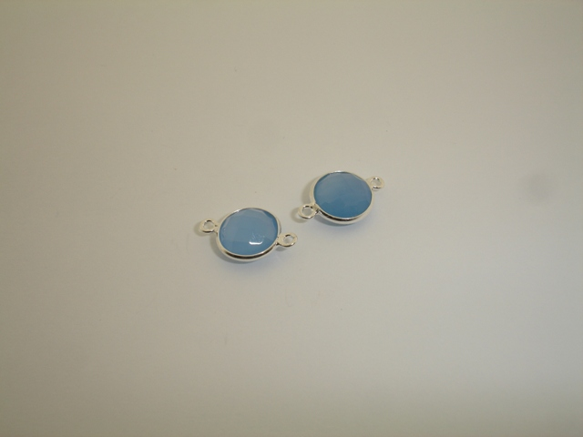 925° SILVER CALCEDONY 11mm (2PIECES PER PACK)