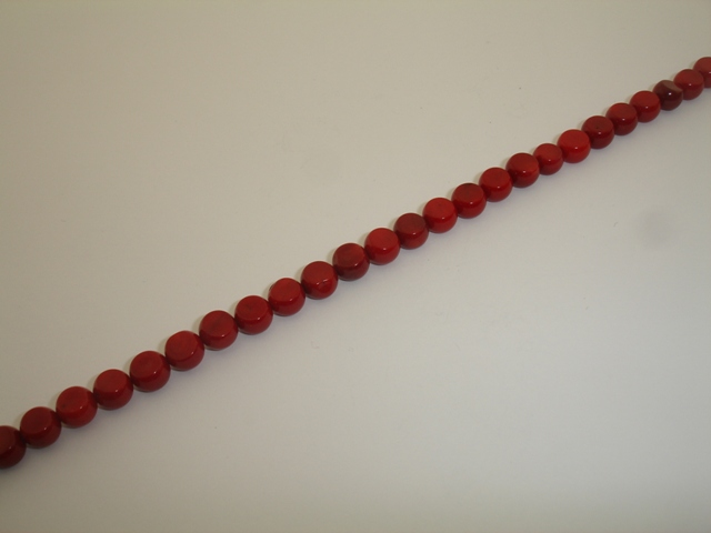 RED CORAL RONDELLE 9mm