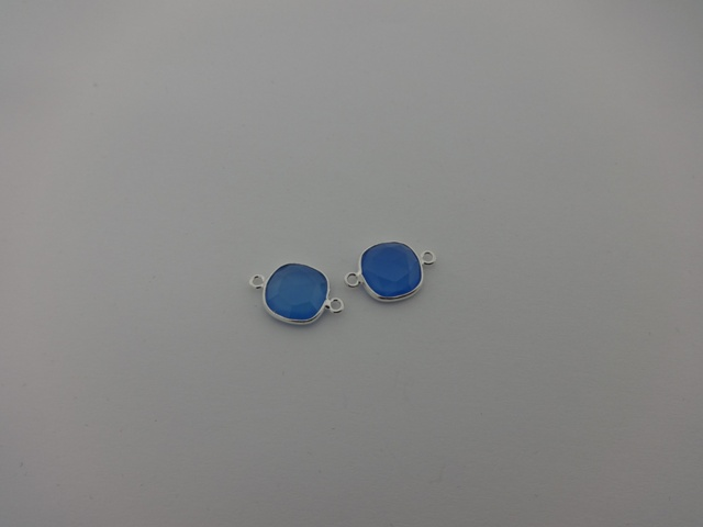 925° SILVER CALCEDONY 11x17mm (2PIECES PER PACK)