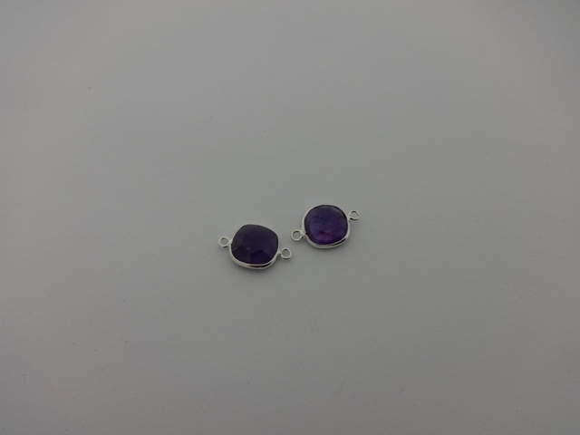 925° SILVER AMETHYST 11x17mm (2PIECES PER PACK)