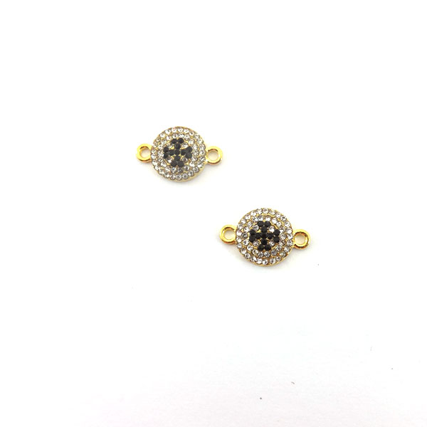 ROUND SHAPE ELEMENT WITH CROSS STRASS 20x13mm