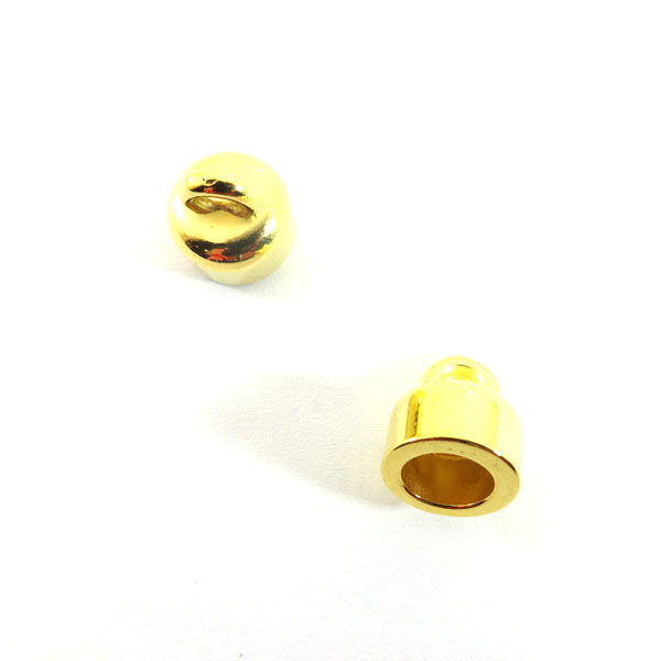 CORD END FINDINGS 8mm (INTERNAL DIAMETER) GOLD PLATED