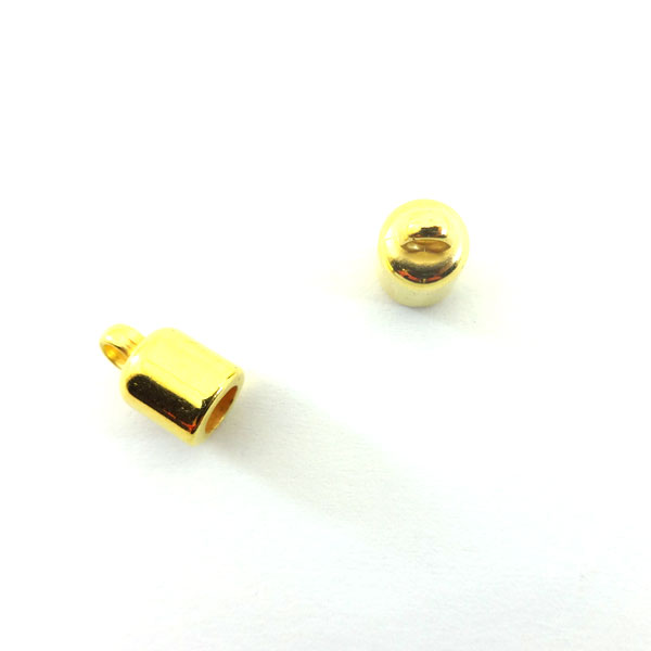 CORD END FINDINGS 5mm (INTERNAL DIAMETER) GOLD PLATED