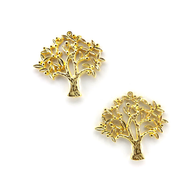 GOLD PLATED TREE 42x45mm