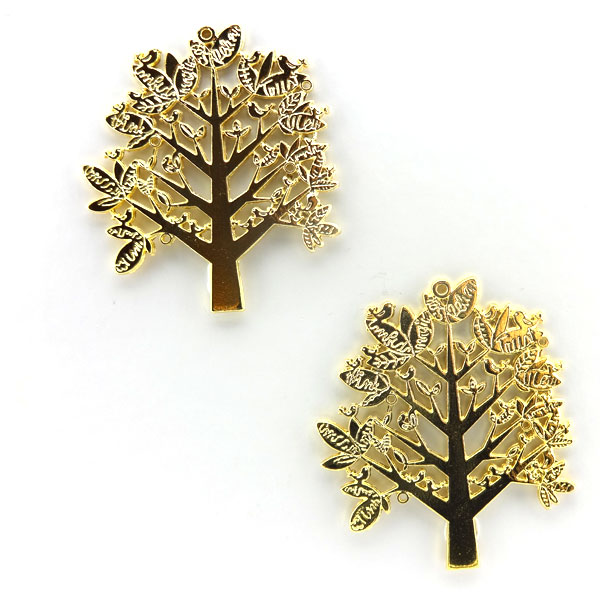GOLD PLATED TREE 46x65mm