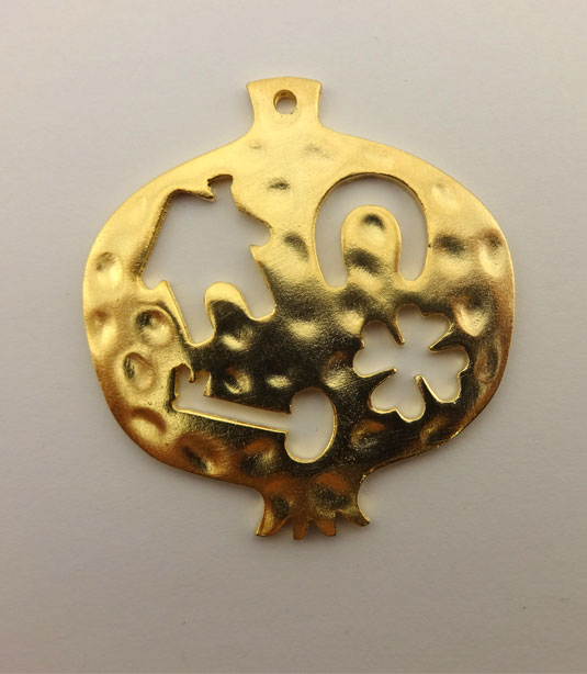 GOLD PLATED POMEGRANATE 53x55mm