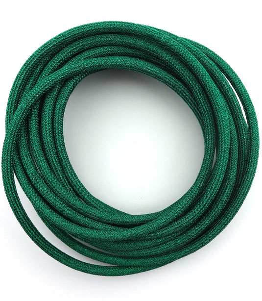 RUBBER CORD WITH COATING OF METALLIC MESH 5mm (INTERNAL DIAMETER 4mm)