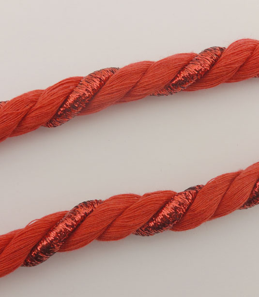COTTON TWISTED CORD WITH DETAILED METAL THREAD 10mm
