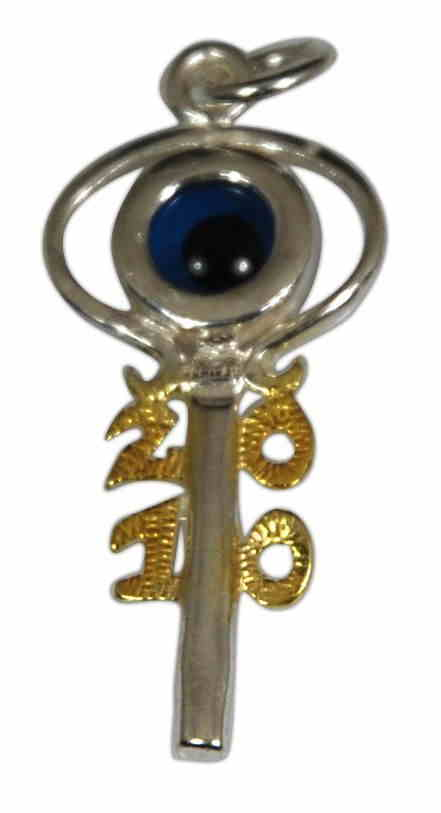 SILVER 925° ELEMENT OF LUCK ''2010'' 15x33mm