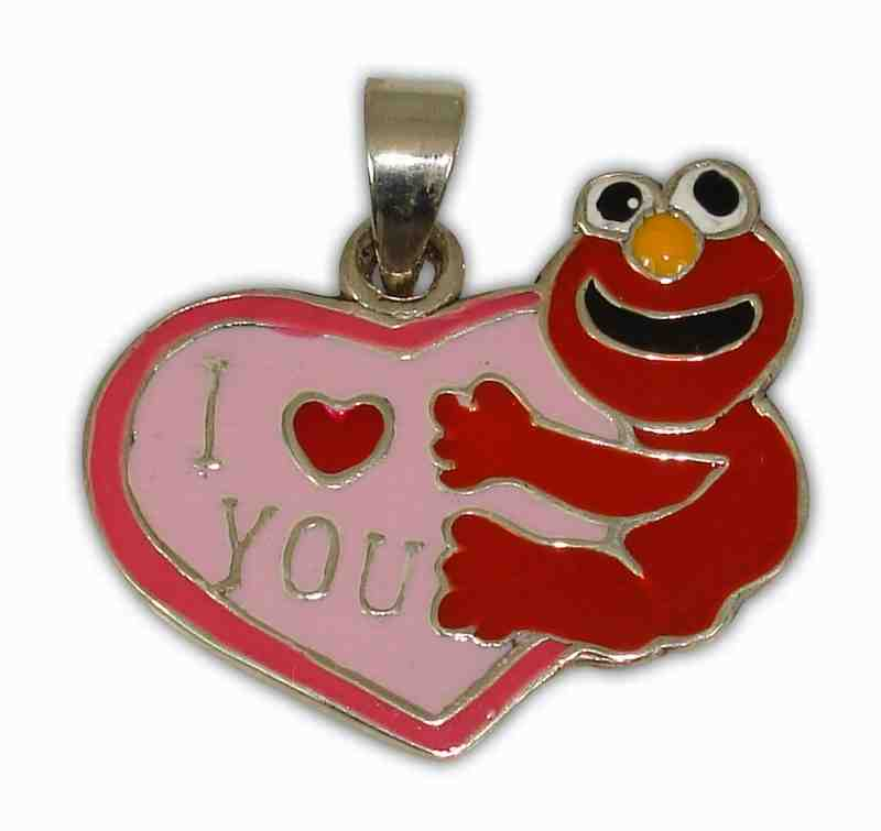 925° SILVER  HEART ''I LOVE YOU''  WITH ENAMEL COLOUR RED ANF PINK PENDANT 20x24mm