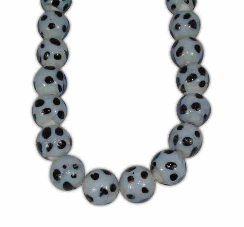 MOYRANO BALL LIGHT BLUE WITH SPOTS (BLACK) 15mm
