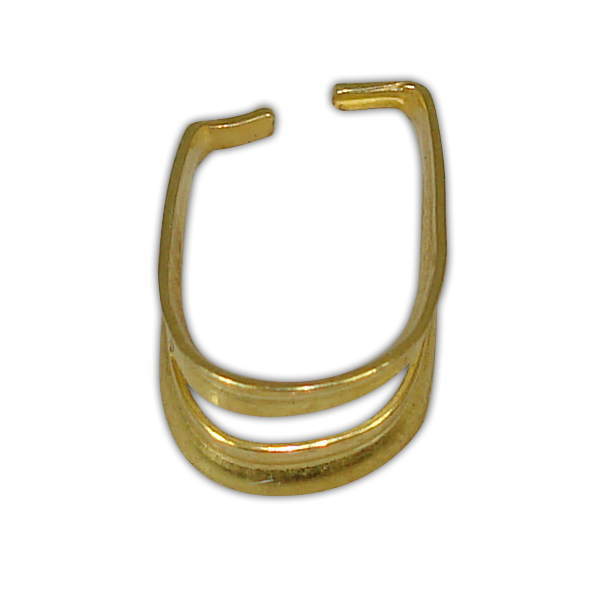 SILVER 925° LOCK FOR MOTIF GOLD-PLATED 9x12mm