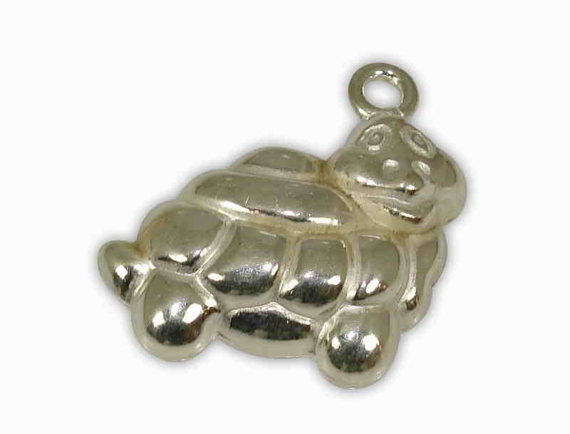 SILVER 925° TURTLE PENDANT 18x25mm