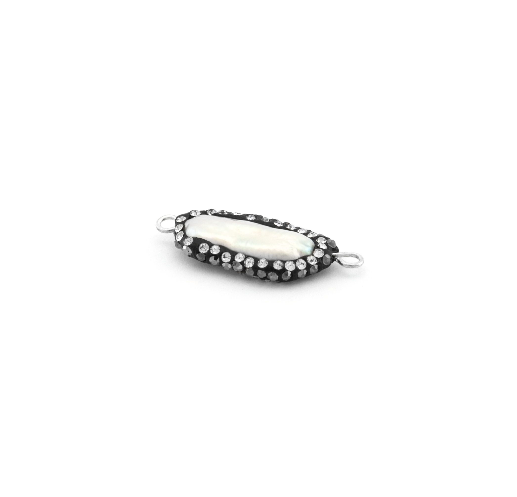 FRESH WATER PEARL WITH STRASS 13x22mm