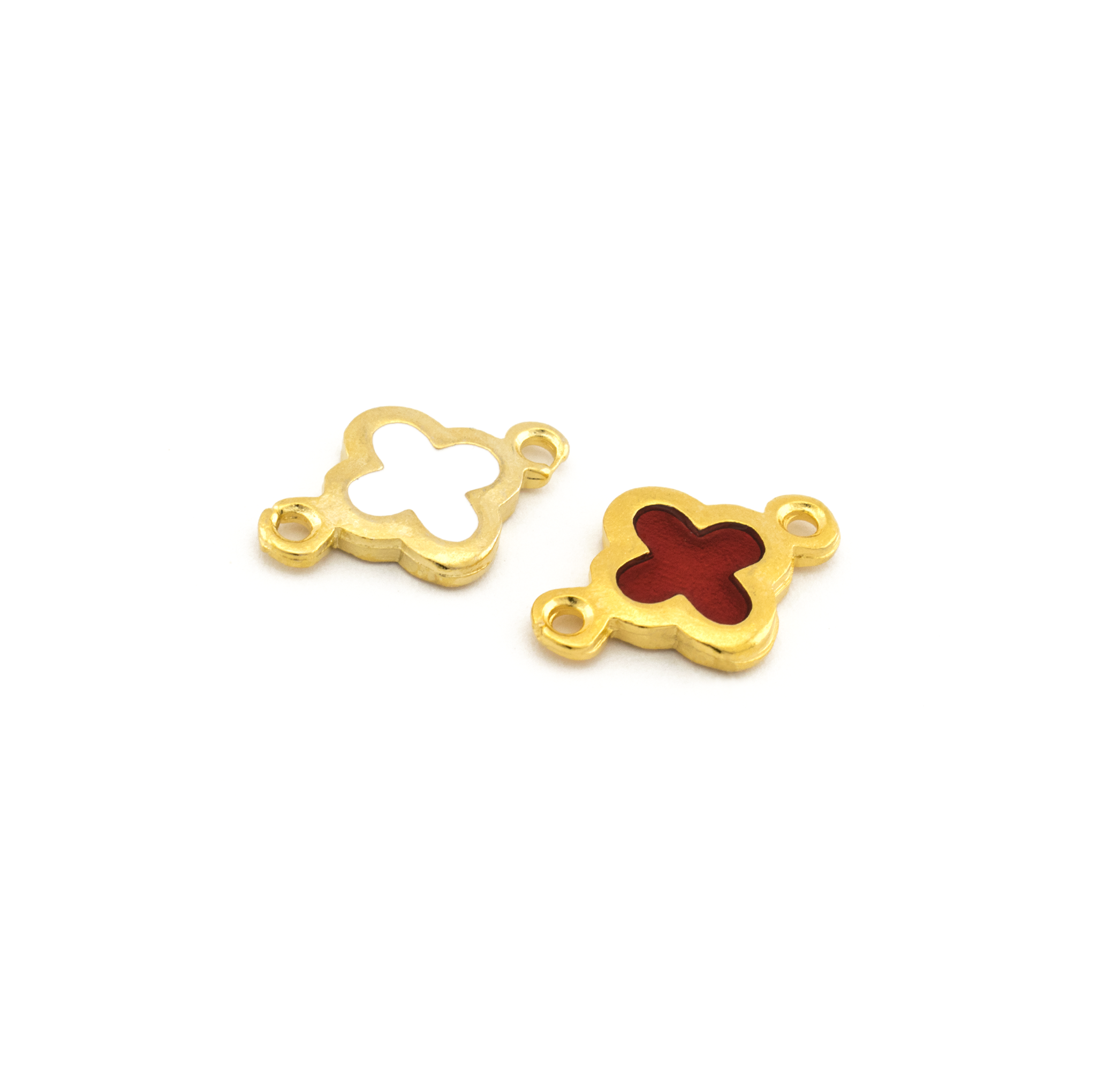 CROSS WITH ENAMEL GOLD PLATED 17x11mm