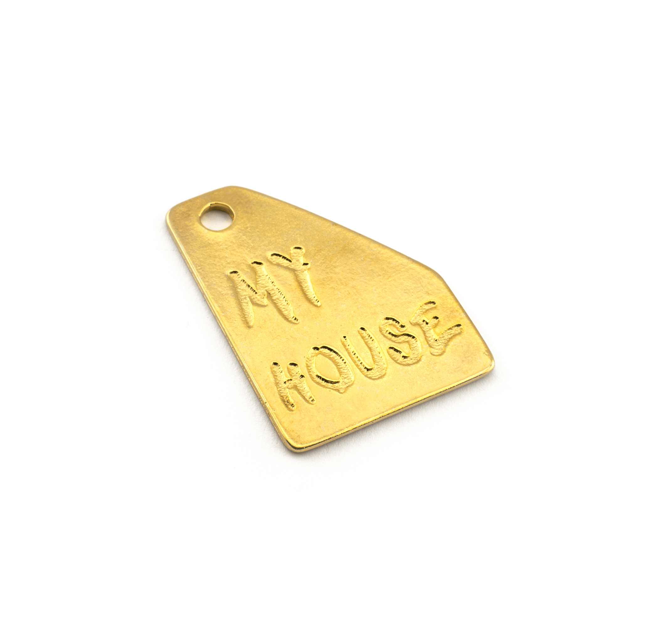 "PENDANT ""MY HOUSE"" GOLD PLATED 44x33mm"
