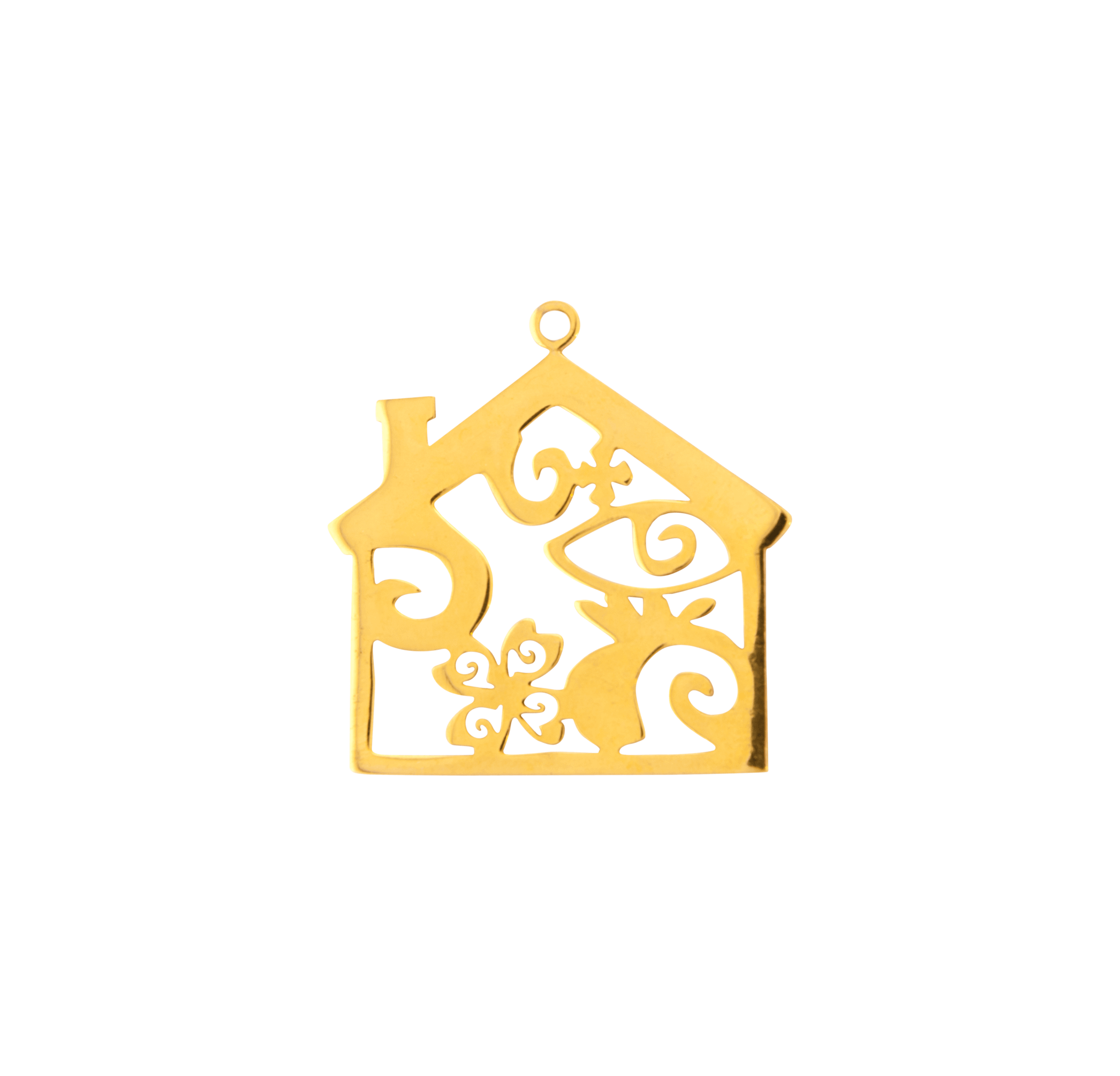 HOUSE GOLD PLATED 45mm (BRASS)