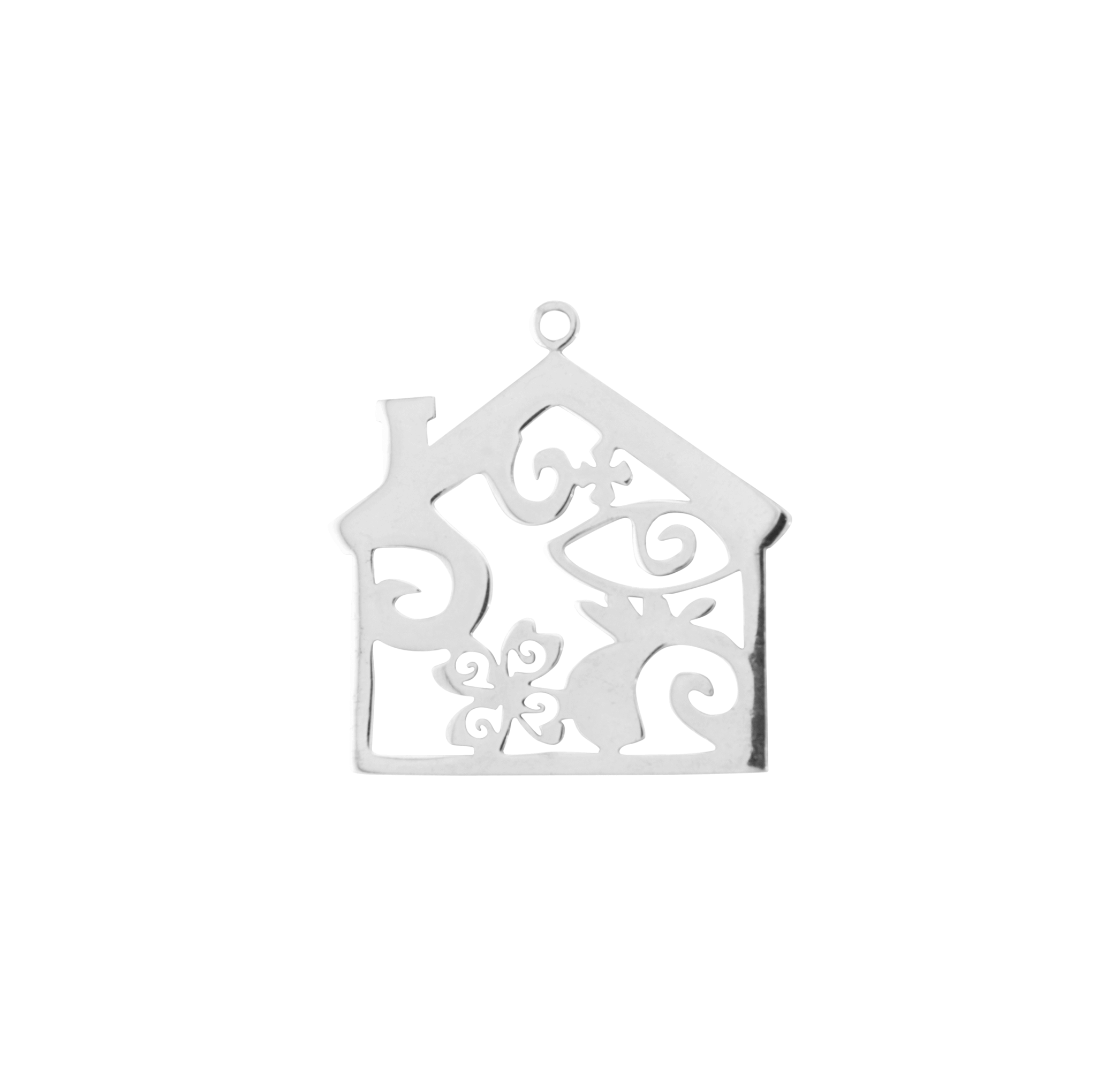 HOUSE SILVER PLATED 45mm (BRASS)