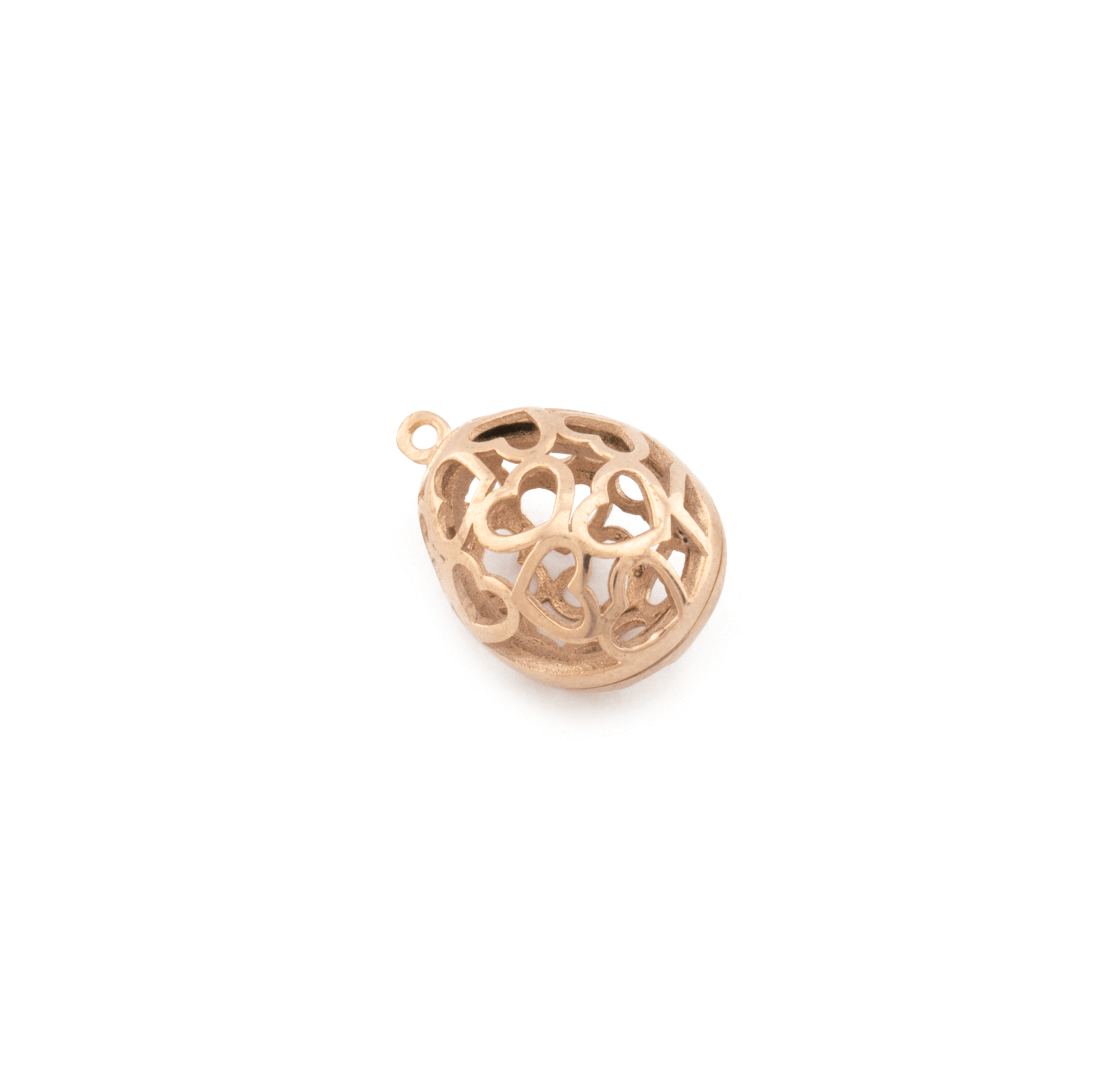 PINK GOLD PLATED EGG 22x15mm ( BRASS )