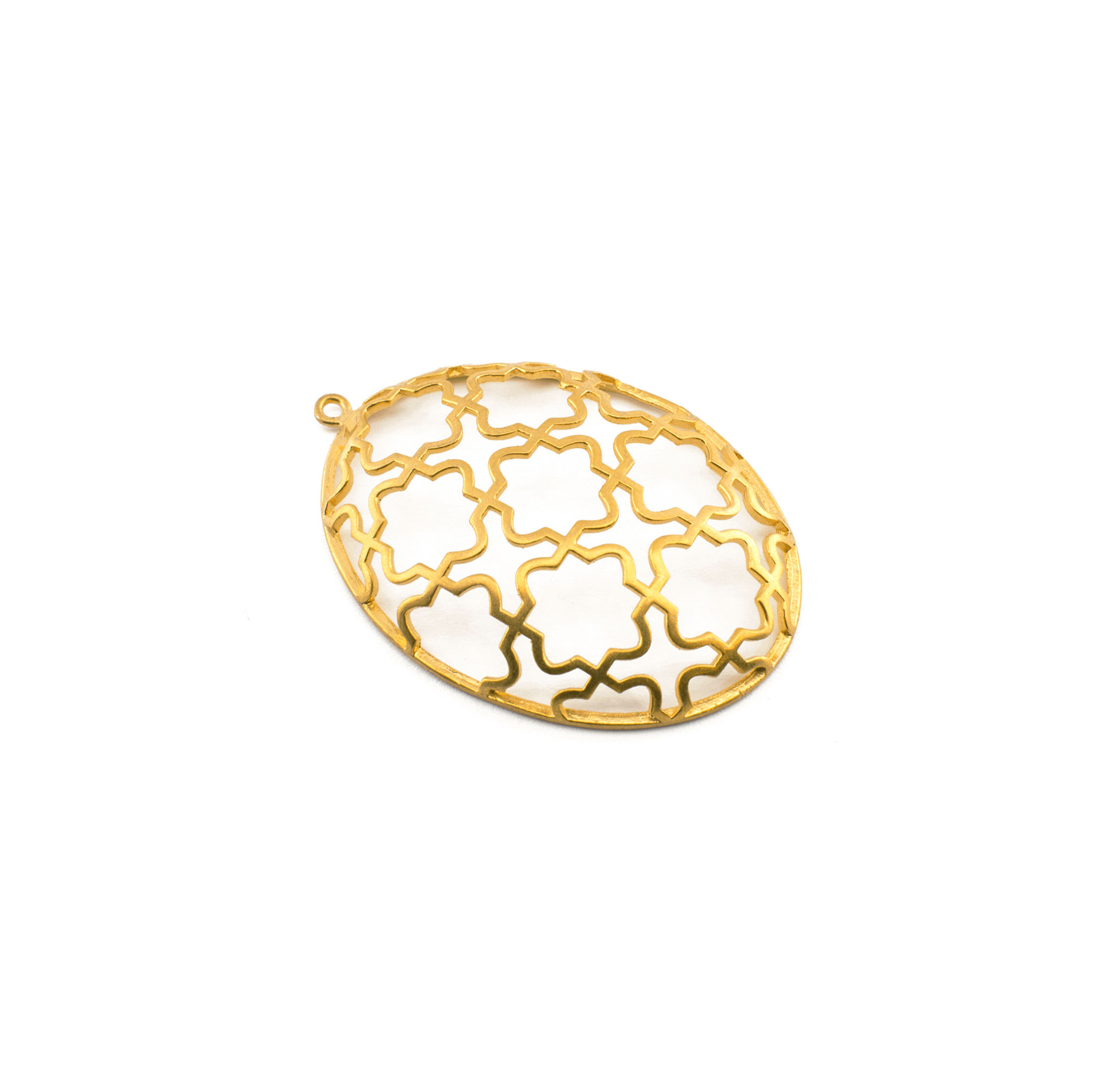 EGG GOLD PLATED 52x35mm ( BRASS )