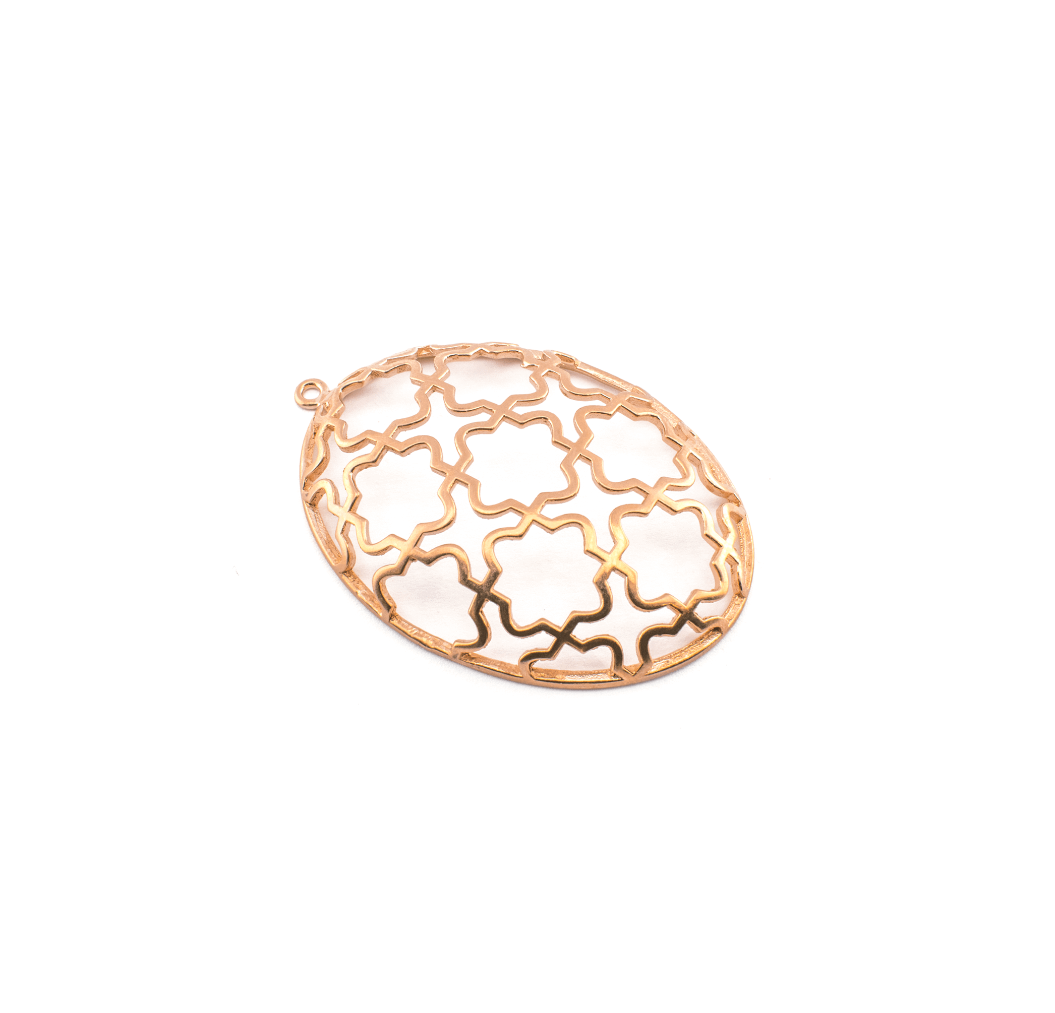 EGG PINK GOLD PLATED 52x35mm (BRASS)