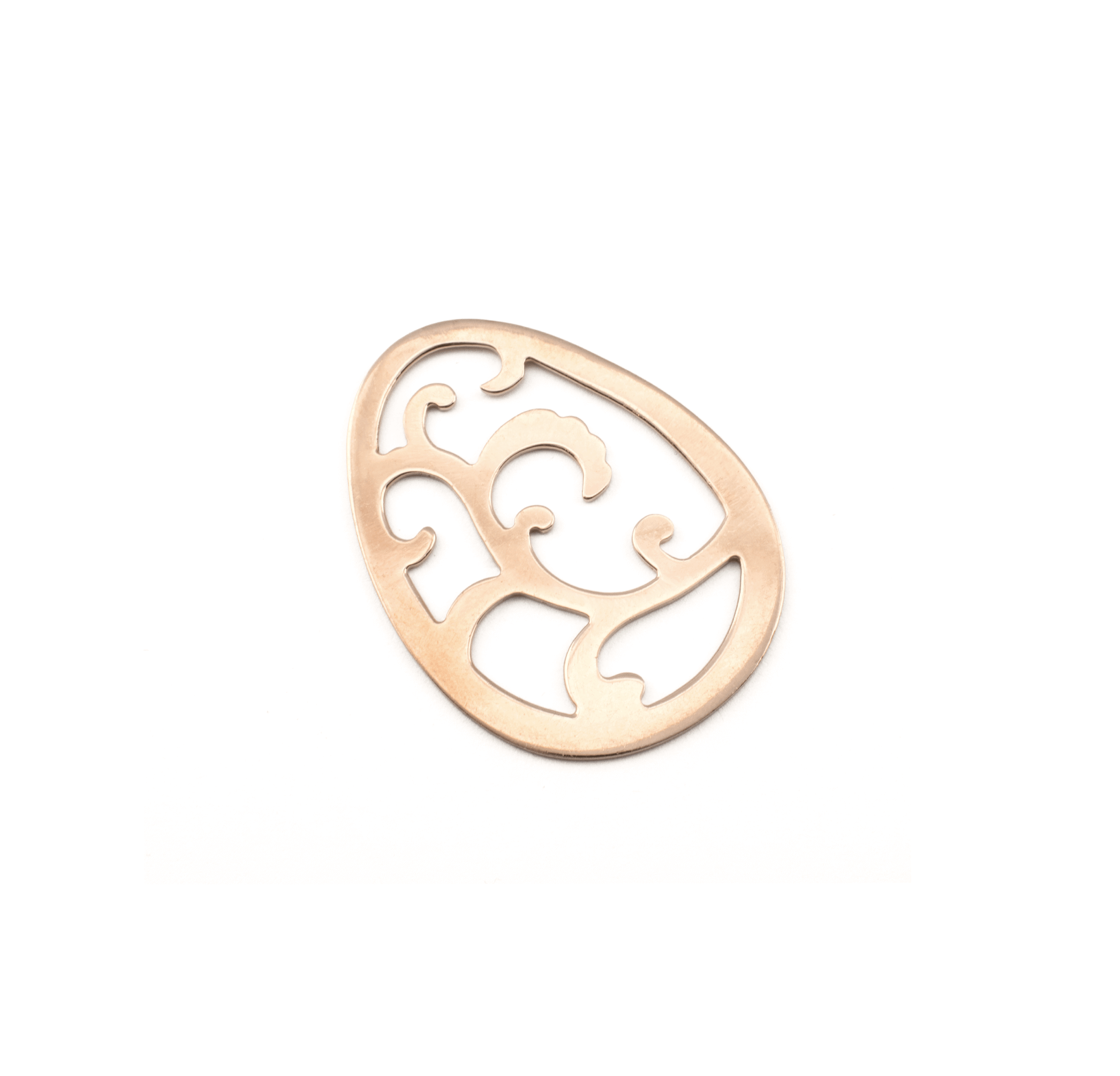 EGG PINK GOLD PLATED 50x40mm ( BRASS )