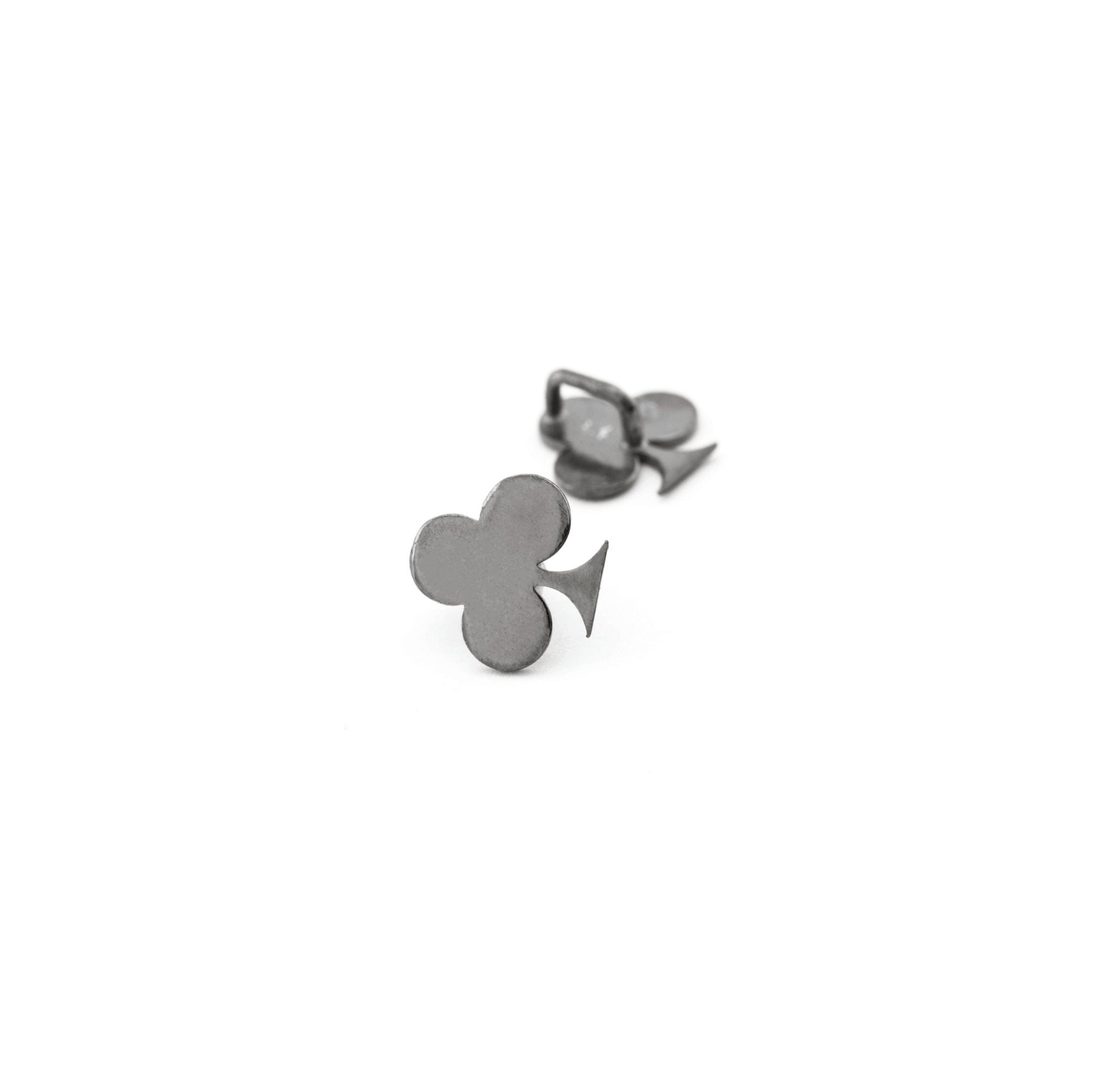 925° SILVER CLOVER RUTHENIUM PLATED 9mm