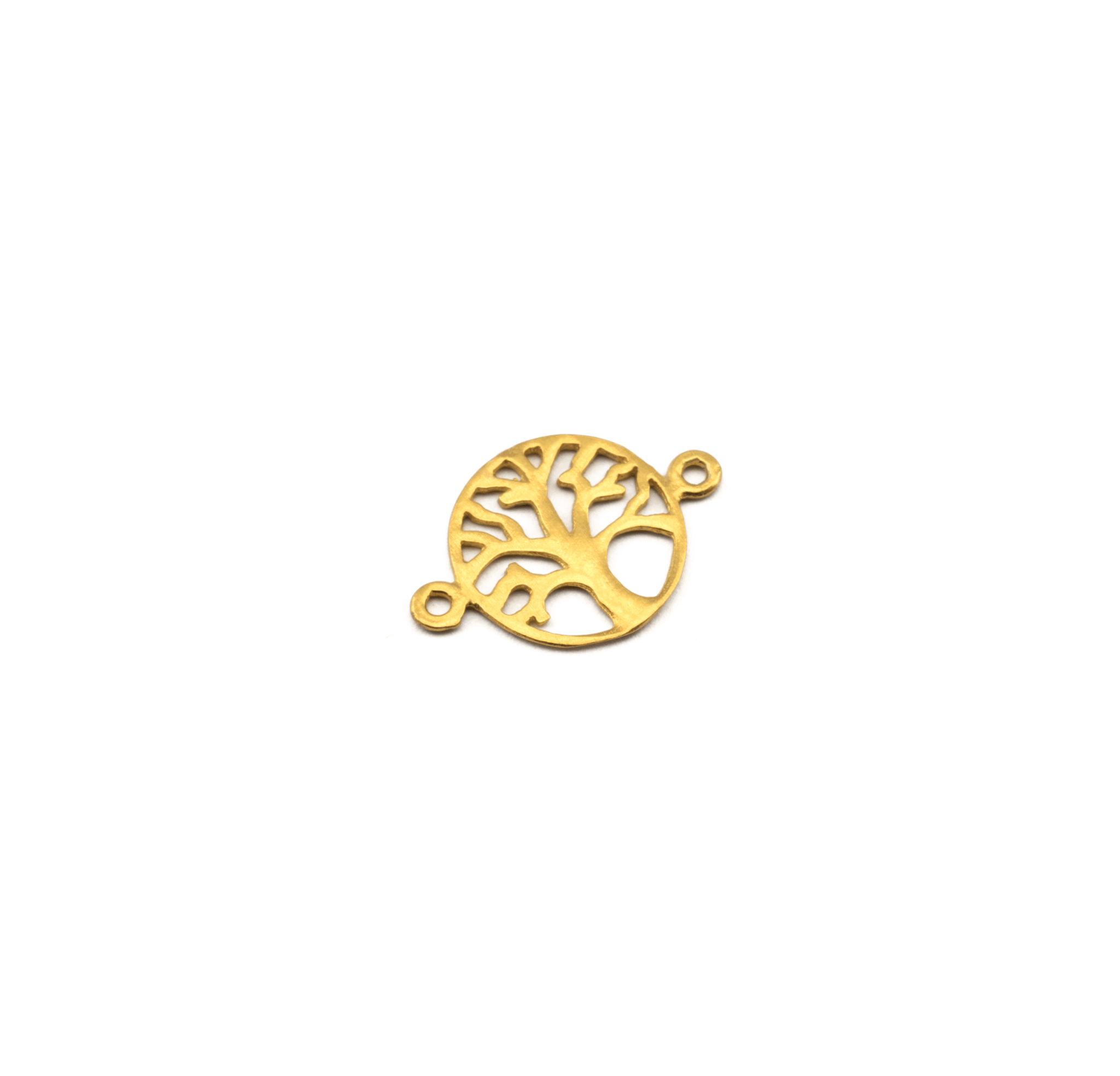 925° SILVER TREE OF LIFE GOLD PLATED 13mm