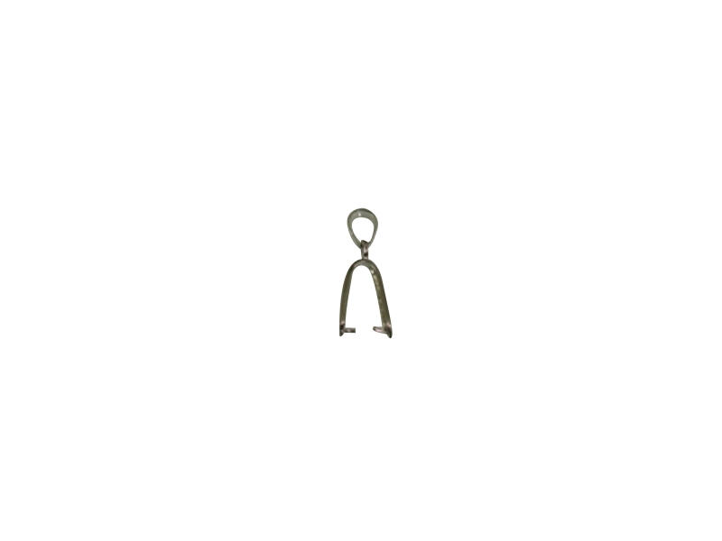 SILVER 925° CLASP WITH RHODIUM 17mm