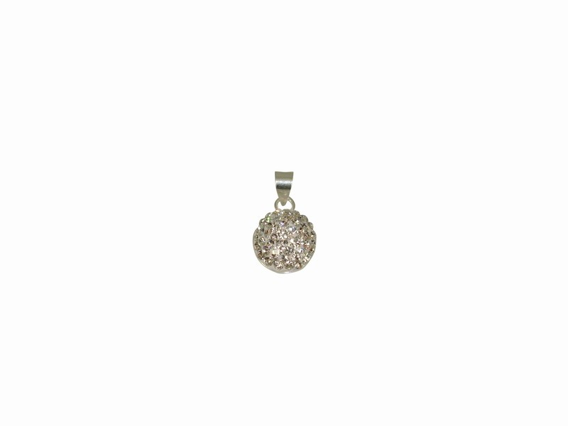SILVER 925° DRAFT WITH STRASS SWAROVSKI PENDANT 12x16mm