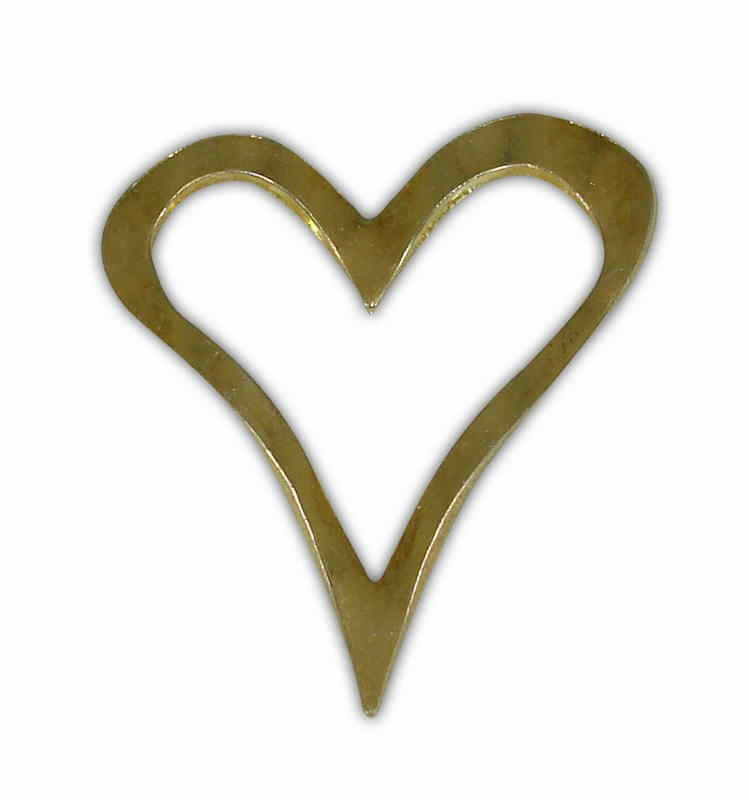 SILVER 925° HEART CONTOUR GOLD-PLATED 22x24mm